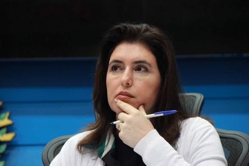 Senadora Simone Tebet encabeçou as ações no Senado. (Foto: Fernando Antunes)