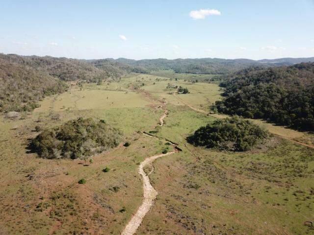 Leito seco carrega sedimentos pela força da água das chuvas ao Rio Salobra (Foto: Divulgação/IHP)
