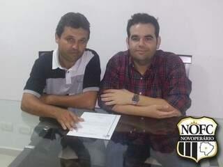 Américo Ferreira e Eduardo Maluf em reunião que oficializou o convite (Foto: Novoperário)