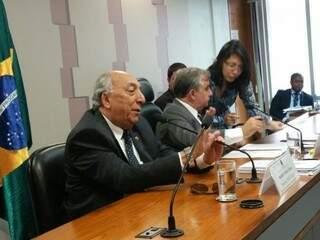 Pedro Chaves (PSC-MS) durante reunião da comissão sobre a reforma do ensino médio. (Foto: Divulgação Assessoria)