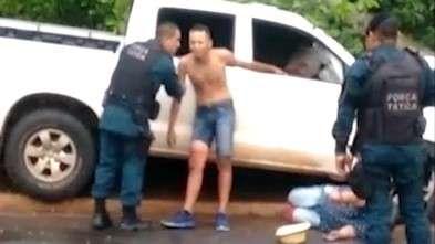 Na cena do crime, policial discute com vítima, mas não é preso