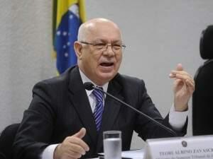 Ministro Teori Zavascki, que estava em avião que caiu em Paraty (Foto: Reprodução / Agência Brasil)