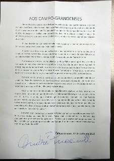 Em carta, André confirma que não disputará Prefeitura de Campo Grande