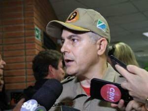 Coronel Joilson, comandante geral do Corpo de Bombeiros. (Foto: Marina Pacheco)