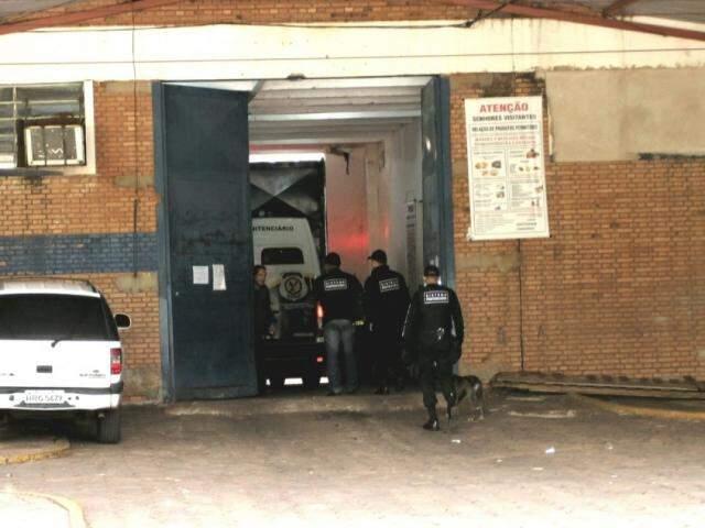 Entrada do presídio de Segurança Máxima de Campo Grande. (Foto: Saul Schramm )