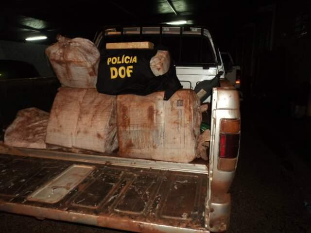Maconha era transportada em fardos. (Foto: Divulgação)
