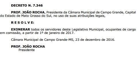 Decreto foi publicado no Diogrande de hoje. (Foto: Reprodução)