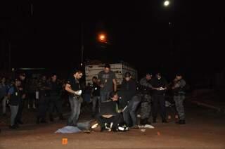 Polícia foi acionada e esteve no local (foto: João Garrigó)