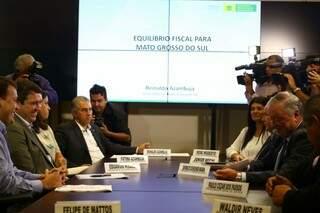 Projeto de reforma administrativa foi apresentada hoje durante coletiva de imprensa. (Foto: André Bittar)