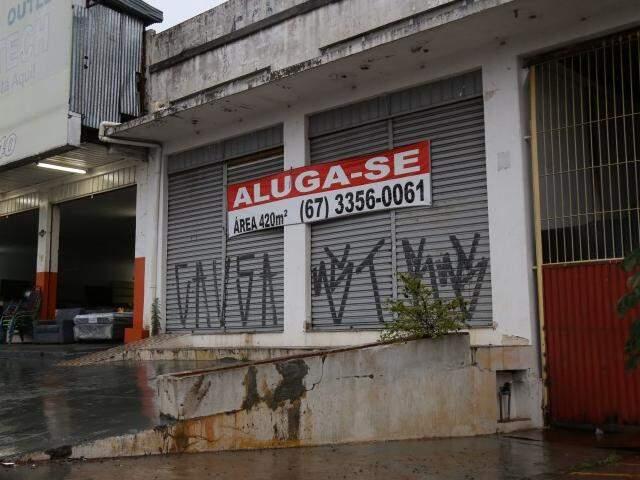 Imóvel disponível para locação em Campo Grande; índice de reajuste subiu menos que no ano passado (Foto: Arquivo / Fernando Antunes)