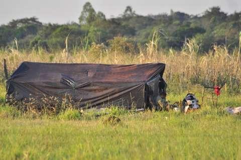 Polícia vistoria áreas invadidas e sitiantes esperam desocupação