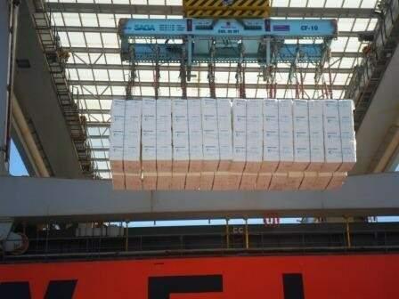 A Eldorado Brasil chegou a um milhão de toneladas de celulose exportadas em dezembro, por meio do terminal próprio no Porto Santos. (Foto: Eldorado/ Divulgação)