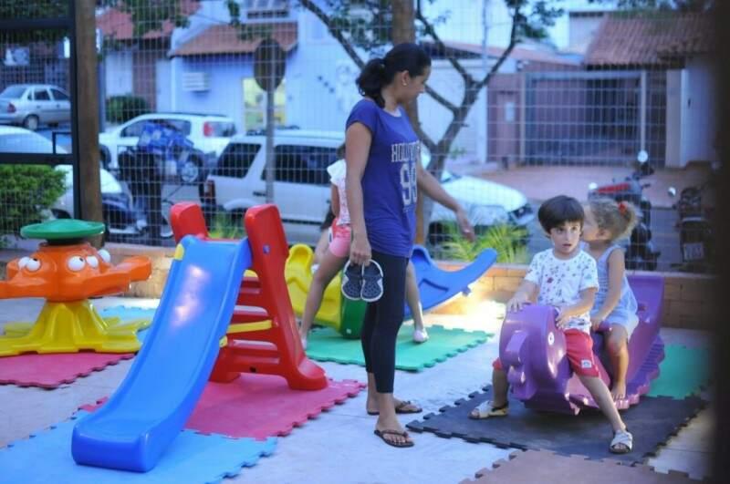 Espaço kids para a criançada. (Foto: Alcides Neto)