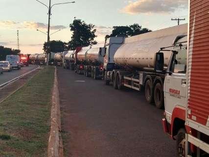 Durante a greve, PRF já escoltou 71 carretas e caminhões em MS