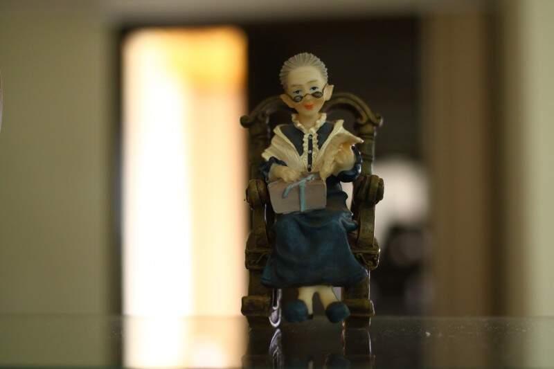 Manife em miniatura. Um dos enfeites da casa da avó. (Foto: André Bittar)