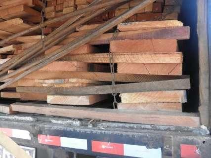 PMA multa em R$ 11,4 mil empresa que transportava madeira irregularmente