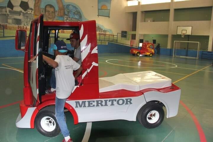 Caminhões miniatura estarão na Cidade do Natal. (Foto: Divulgação/Fórmula Truck)