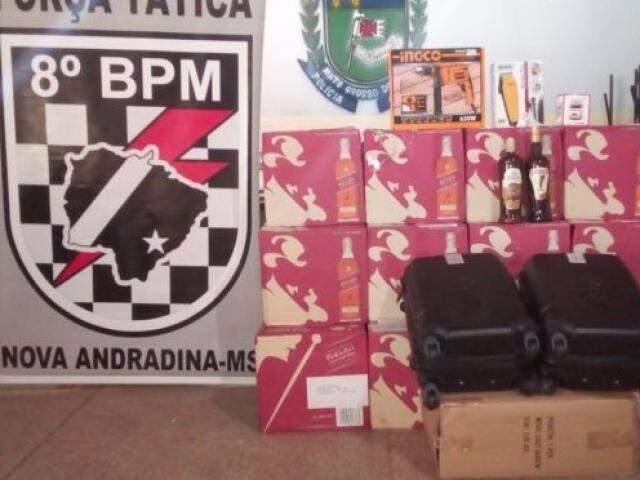 Todos os produtos eram de origem Paraguaia e não possuíam documentação de importação. (Foto: Divulgação)