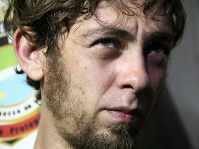 Luís Alberto, no dia em que foi preso. (Foto: Marcos Ermínio)