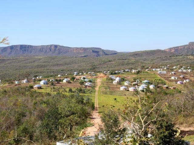 São cerca de cem casas atualmente na comunidade (Foto: Fernando Antunes)
