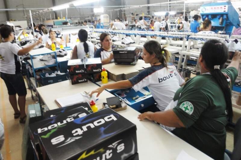 Indústria calçadista pode crescer até 8% em MS (Foto: Divulgação/Fiems)