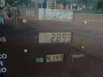 No interior do Estado, preço do litro da gasolina já ultrapassa R$ 4,00