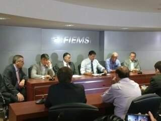 Setor produtivo se reuniu nesta manhã com o superintendente do Banco do Brasil. (Foto: Renata Volpe)