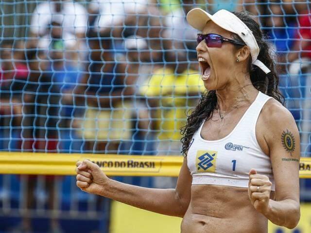 Talita durante etapa do Brasileiro Open de vôlei de praia (Foto: CBV/Divulgação)