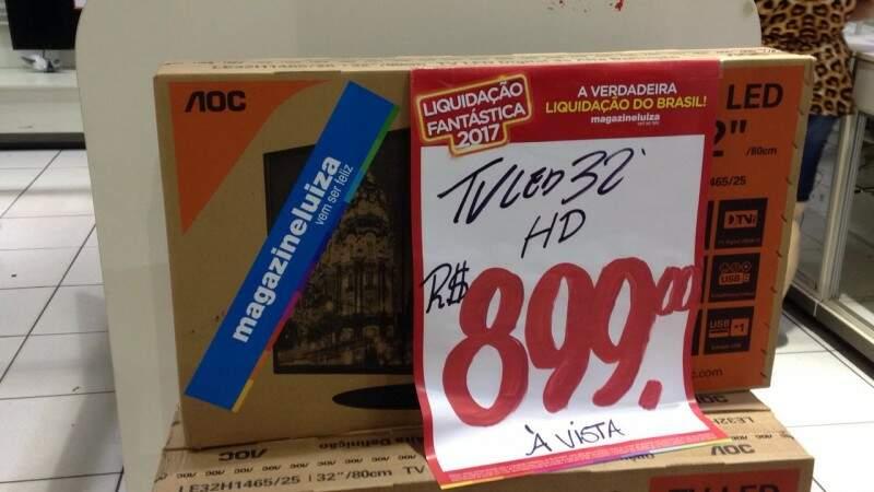 Televisores por menos de R$ 1 mil. (Foto: Elci Holsback)