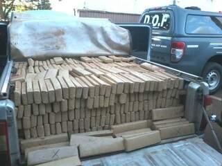 Carga apreendida pelo DOFainda deve ultrapassar 1,5 tonelada. (Foto: divulgação DOF)
