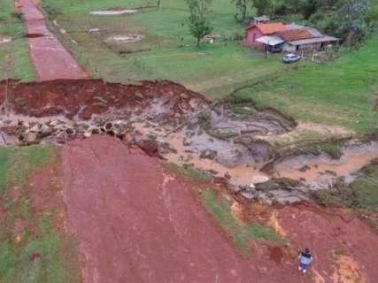 Após temporal, prefeito vai decretar emergência em Novo Horizonte do Sul