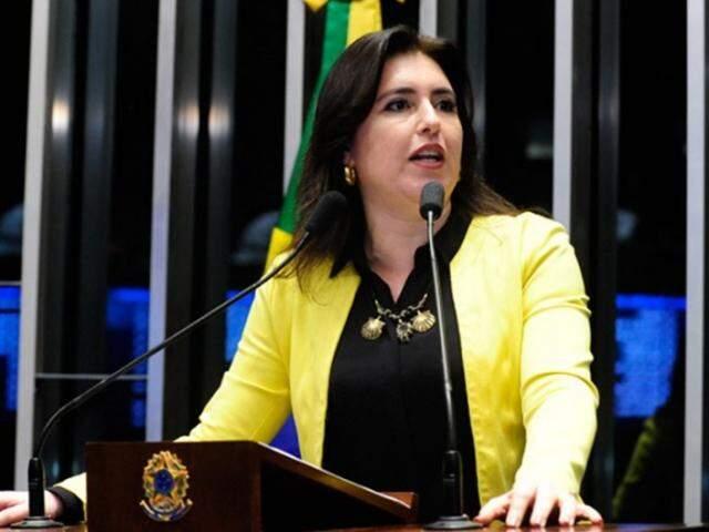 Simone Tebet frisa também que os erros de Dilma serão pagos por futuras gerações (Foto: Jonas Pereira/Agência Senado)