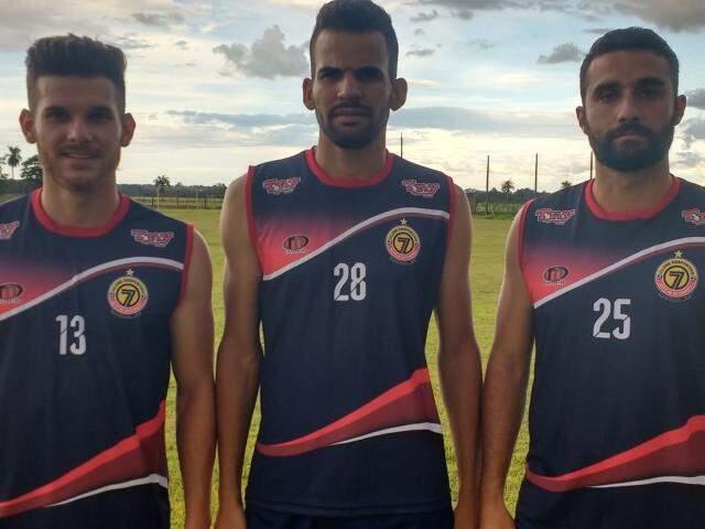 Dornelles, Ramon e Neto são os novos reforços (Foto: Divulgação/ Sete)