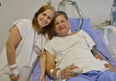 No primeiro transplante do ano na Santa Casa, mulher doa rim para marido
