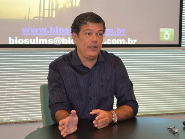 Presidente da Biosul apresenta números da safra em entrevista nesta sexta-feira. (Foto: Fabiano Arruda)