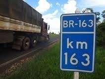 Governo federal desapropria áreas para duplicação da BR-163 em São Gabriel