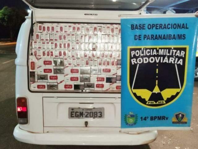 Kombi foi flagrada durante fiscalização na MS-240 (Foto/Divulgação)