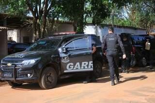 Policiais do Garras durante operação na Máxima da Capital (Foto: Marina Pacheco)