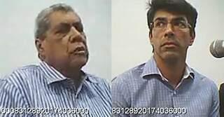Puccinelli e o filho durante audiência de custódia. (Foto: reprodução de vídeo gravado pela Justiça Federal)