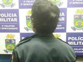 Índio foi preso com camisa que faz parte do fardamento da PM (Foto: Divulgação)