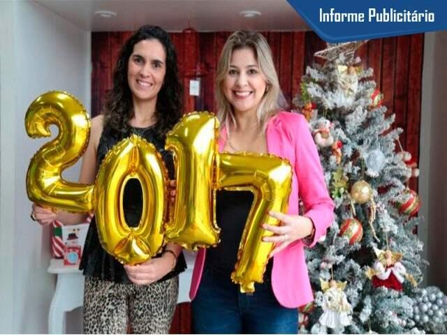 As sócias Tatiana (esq.) e Luciana desejam muita festa e imagens sensacionais. (Foto: Fernando Antunes)