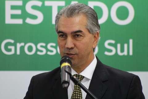 Governador recebe o presidente em exercício Michel Temer em Dourados