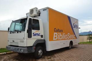 Unidade móvel BiblioSesc estará em Bonito. (Foto: Divulgação)