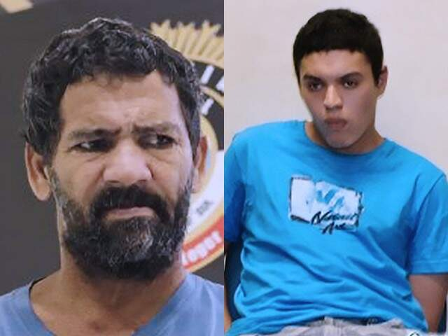 Luiz Alves Martins Filho, 49 anos, o 'Nando', e Dyonathan Celestrino, 25 anos, conhecido como 'Maníaco da Cruz'. (Foto: Reprodução)