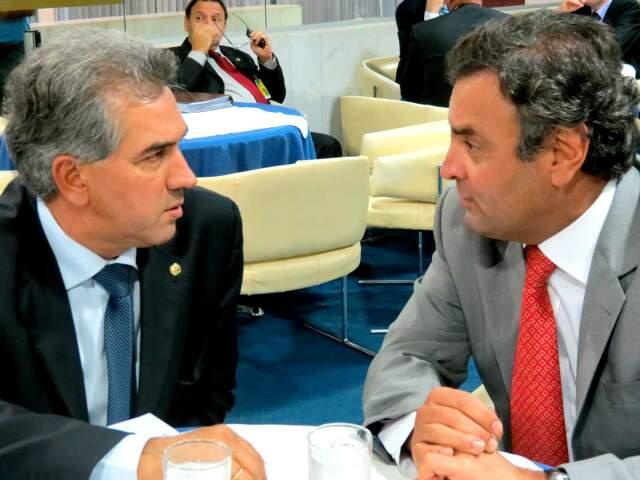 Azambuja se reuniu na tarde desta terça-feira com Aécio Neves em Brasília. (Foto: Divulgação)