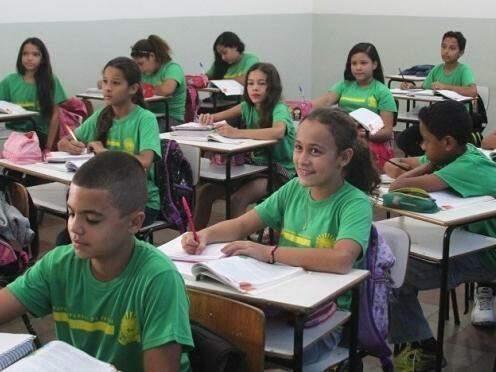 Em 2017 serão mais de 250 mil alunos, distribuídos em 365 escolas pelo Mato Grosso do Sul. (Foto: Marcos Ermínio)