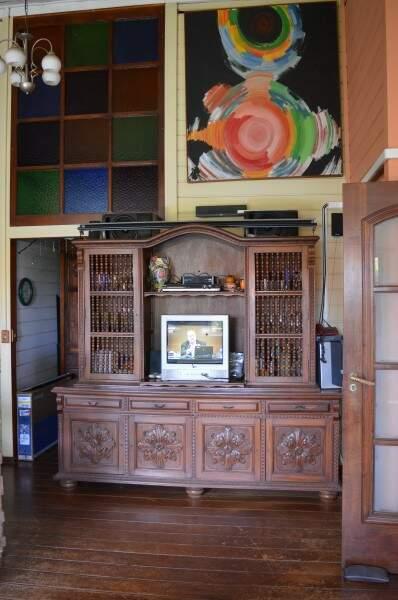 Decoração rústica é herança da época em que a família toda morava na casa (Foto: Naiane Mesquita)