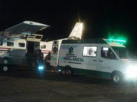 Devido a gravidade dos ferimentos, precisou ser transferida em um avião, para um hospital em Assunção, capital do Paraguai. (Foto: Porã News)