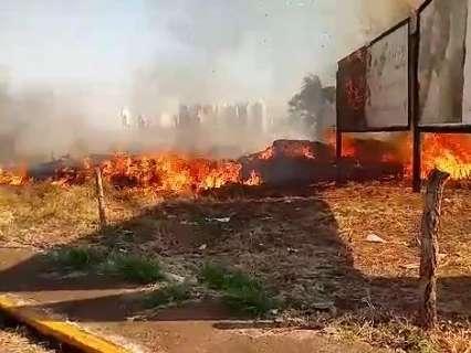 Dá para ver fumaça de longe: incêndio devasta área vizinha a hospitais