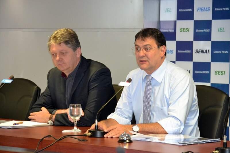 Números foram apresentados pelo secretário da Semade, Jaime Verruck e presidente da Fiems, Sérgio Longen. (Foto: Fiems)